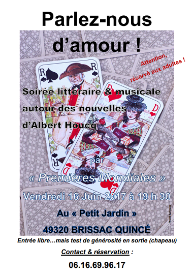 Parlez-nous d'amour - Albert Houcq et Premières mondiales